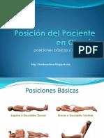 Posicion Del Paciente en Cirugia