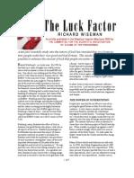 The Luck Factor