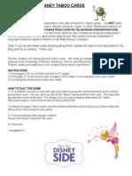 Disney Taboo cards