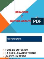 Redacción y Lectura Analítica