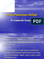 Etika Penulisan Artikel 9 Jan