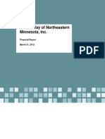 United Way of Northeastern Minnesota, Inc. 3.31.12 Financial Report