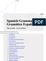 Spanish Grammar Lessons