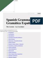 Spanish Grammar Lessons