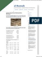 Analisa Harga Satuan Bekisting Beton Bertulang _ Material Rumah