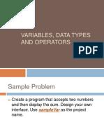 1 Variables - Mathematics