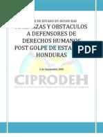 Reporte de Obstaculos Al Trabajo de Def en Sores de DDHH