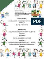 Katia Cedillo--la Educacion Intercultural en La Region