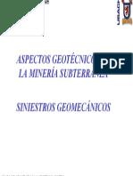 CAPITULO N°2 - SINIESTROS GEOMECÁNICOS