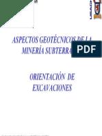CAPITULO N°3 - ORIENTACIÓN EXCAVACIONES