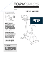 Pro-Form 940s - Owner's Manual