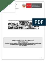 Evaluación EBR PRIMARIA 2014