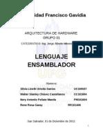 Lenguaje Ensamblador ARQ de HW
