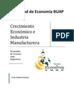 Bajo Crecimiento económico e Industria manufacturera 2 hojas a color