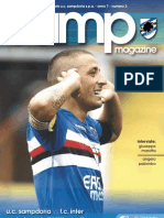 Match Program - Sampdoria vs Inter 26-09-09