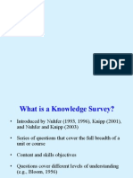 Knowledge Survey Wk Shp