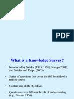 Knowledge Survey Wk Shp