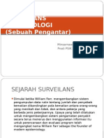 Surveilans Epidemiologi Pengantar - Minsarnawati Tahangnacca Prodi Psik Fkik Uin Jakarta Mei 2011
