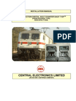 Installation Manual for Single Section Digital Axle Counter CEL Make
