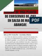 DISEÑO DE  UNA PLANTA  DE CORSERVAS DE  CUY