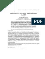 Analysis of FSR, LANMAR and DYMO underMANET