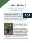 Evaluation Activity 2