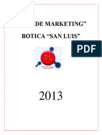 Plan de Marketing Botica San Luis