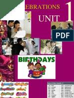 Celebrations Unit 1