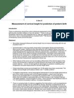 C-Obs 27 Measurement Cervical Length in Pregnancy REWRITE Prof Jon Hyett Jul 12