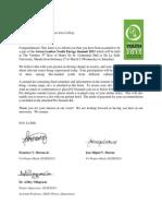 Green Leaders Invitation Example