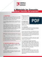 Cementitious Materials for Concrete