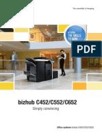 Bizhub C452 C552 C652 Brochure