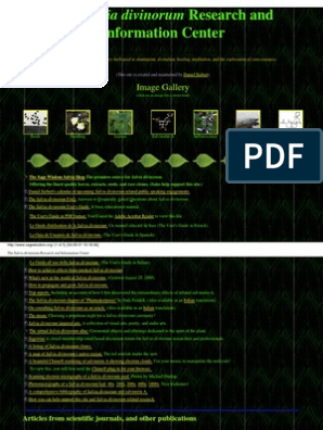 L Insalata Sotto Il Cuscino Pdf.The Salvia Divinorum Research And Information Center
