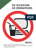 Afichette - No Pc Drinks