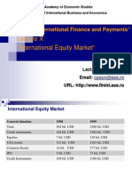 Lecture 11 International Equity Market