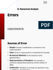 Numerical Analysis - Errors