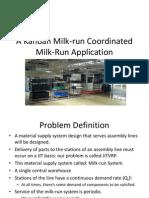 A Kanban Milk-Run Coordinated Milk-Run Application