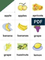Limba Engleza - Planse Cu Fructe Si Legume