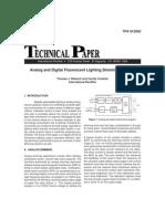 Analog & Digital Fluorescent Lighting Dimming System