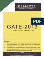 Gate 2013 Solution