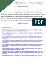 A Manual of Flotation Processes Arthur Fay Taggart