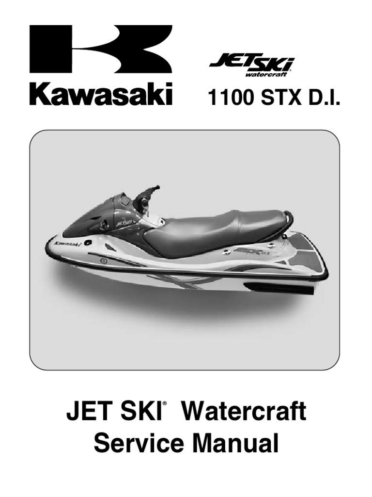 kawasaki 1100 stx di service manual   fuel injection   internal