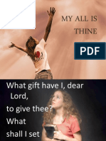 my all is thine