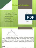 titik tengah segitiga