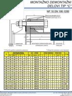 AGH Montazno-Demontazni Delovi Tip C NP 10 DN 100-1200