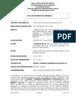 Acta Entrega Inmueble Piso 9 y 10 Myh