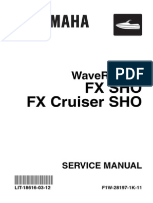 Yamaha SHO Service Manual | Internal Combustion Engine | Throttle