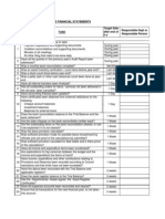 Legislative Policies - Financial Statements - Financial Statements Checklist