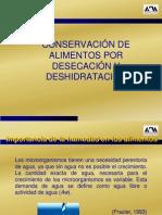 Conservacion de Alimentos Por Deshidratacion