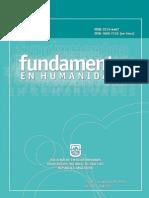 Fundamentos en Humanidades 2010 Num 21